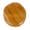 Glass Pressed Beads 8mm Flat Round Olive